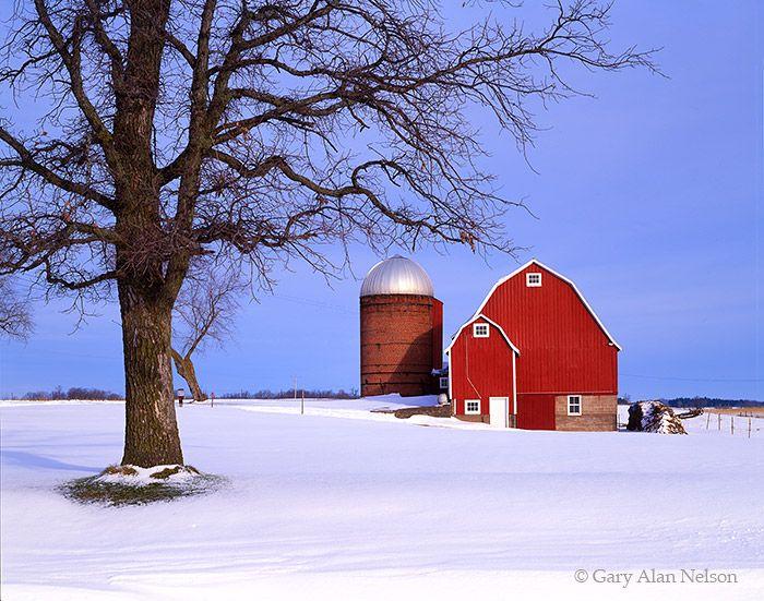 Polk County Barns Barn In Winter Polk County