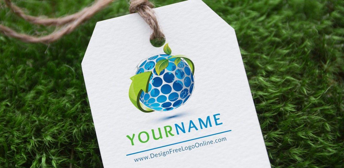 Free ECO LogoMaker ECO Globe Logo design Template