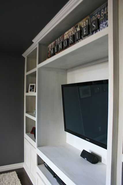 Space below TV for Soundbar Cable box DVD player...perfect for the man cave & Space below TV for Soundbar Cable box DVD player...perfect for the ...