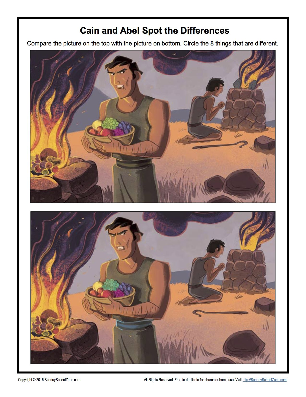 Cain And Abel Spot The Differences