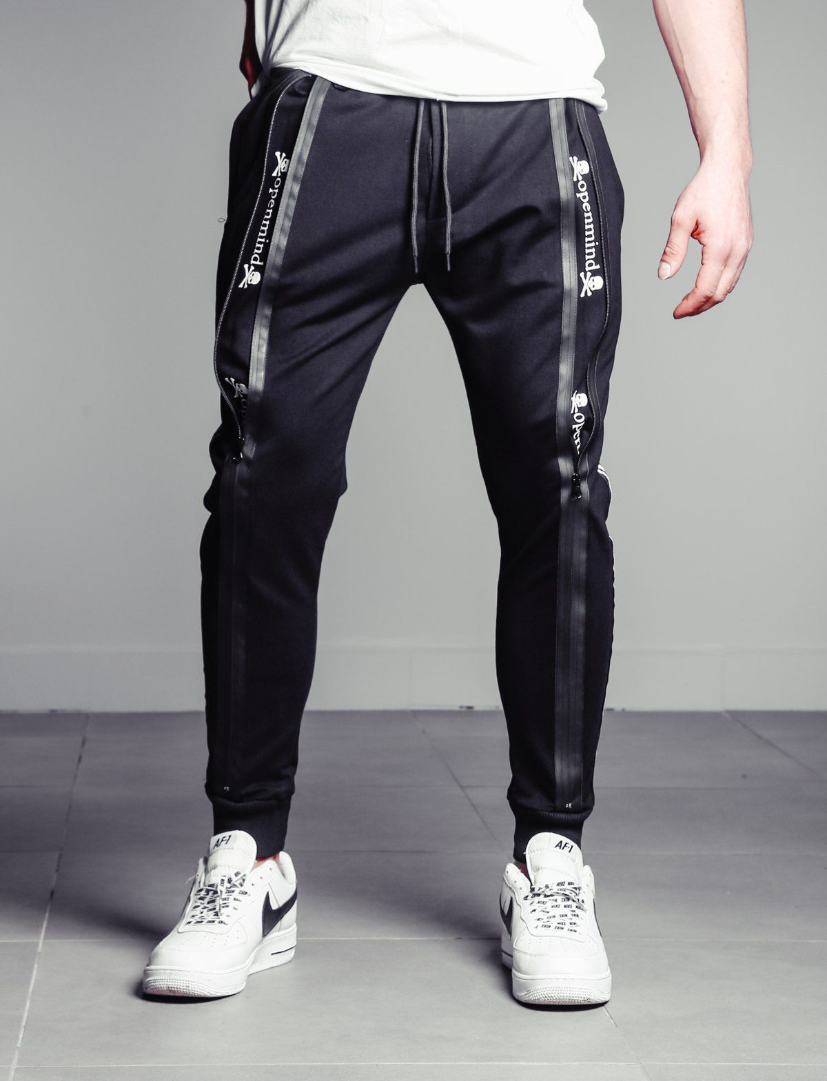 X-Future Mens Plus Size Casual Printing Athletic Contrast Jogger Pants Sweatpants Trousers
