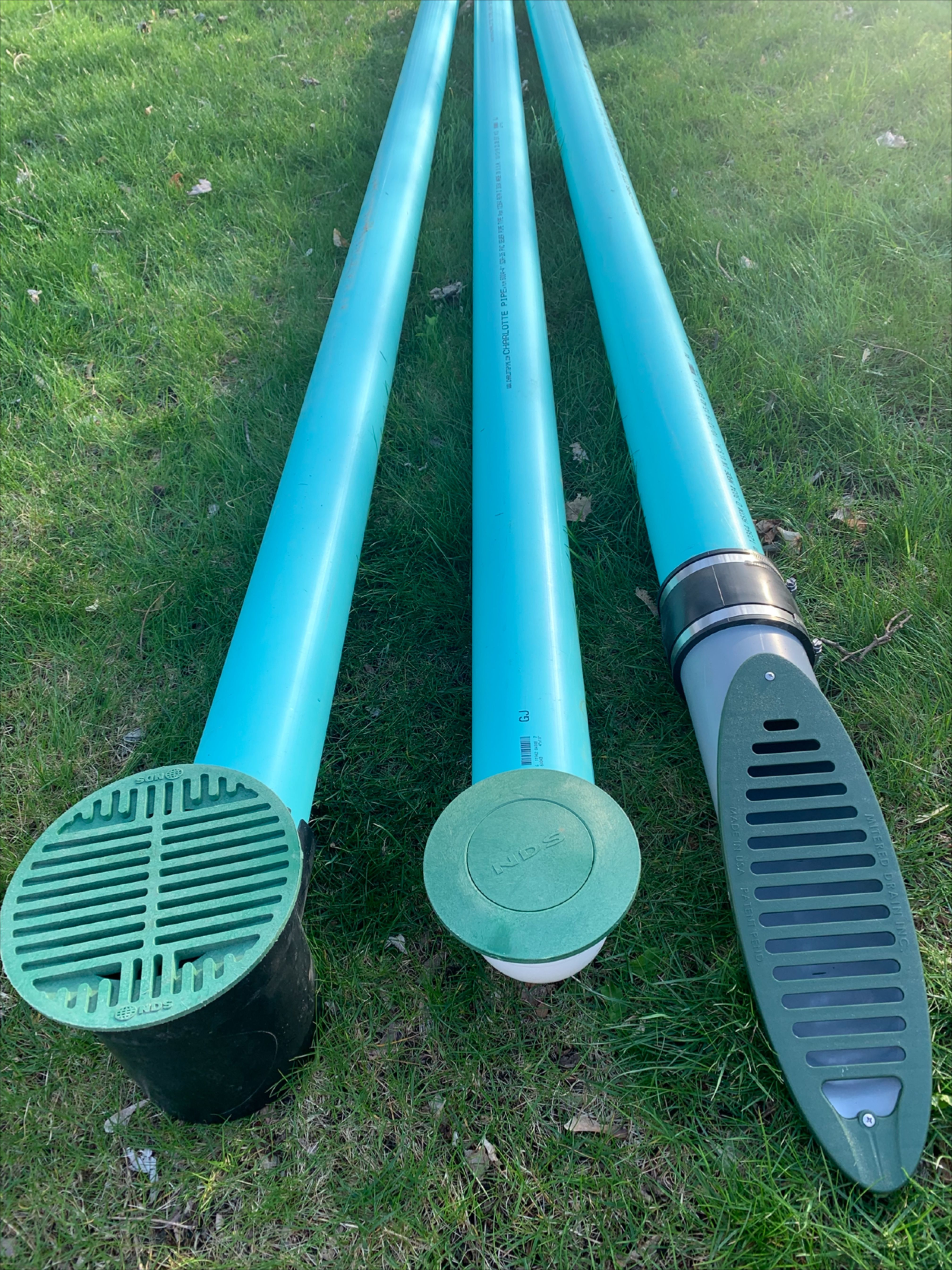 3 Ways To Surface Drain Water At The End Of A Drainage System Catch Basin Pop Up Mitered Drain In 2020 Backyard Drainage Drainage Solutions Gutter Drainage
