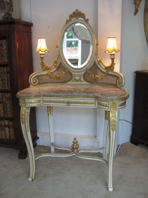 19th Century French Dressing Table 170065 Vanity Table Vintage