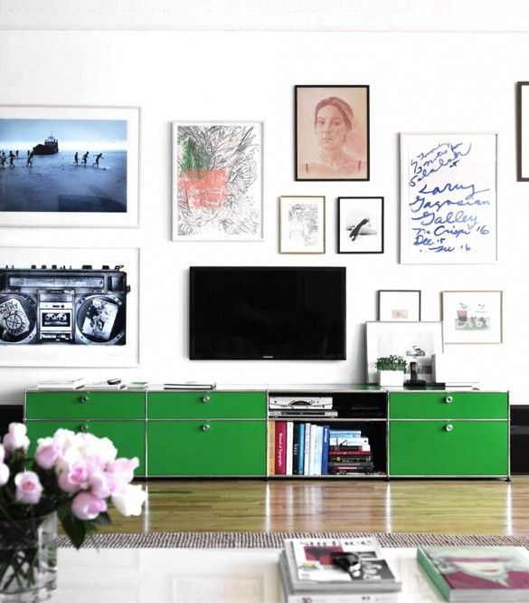 How To Hang Art On Wall how to hang art around a tv wall | home decor | pinterest