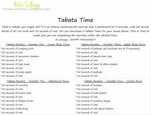 www.nikkisillings.com Give this Tabata Training a try! This at home workout is perfect for all of the moms out there, or for someone who is needing a quick cardio pick-me-up! #tabata #cardio #hiit #exercise #mom