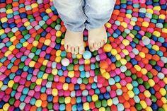 Tapis Enfant En Boules De Laine Chambre Kids Pinterest