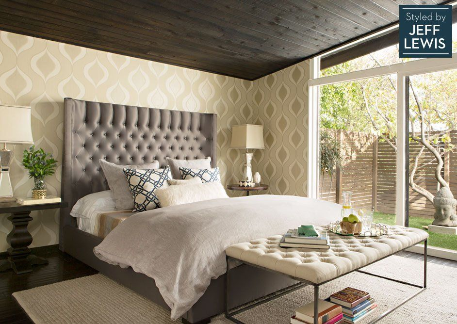Living Spaces: Find Your Zen Styled by Jeff Lewis | Home ... on master bedroom dark furniture, cherry bedroom furniture, bedroom design with black furniture, bathroom design ideas dark furniture, bedroom paint dark furniture, bedroom colors with dark furniture,