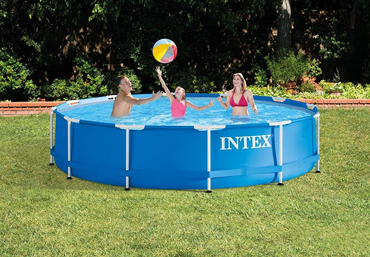 Intex 12 Foot By 30 Inch Metal Frame Pool Set Above Ground Swimming Pools In Ground Pools Intex