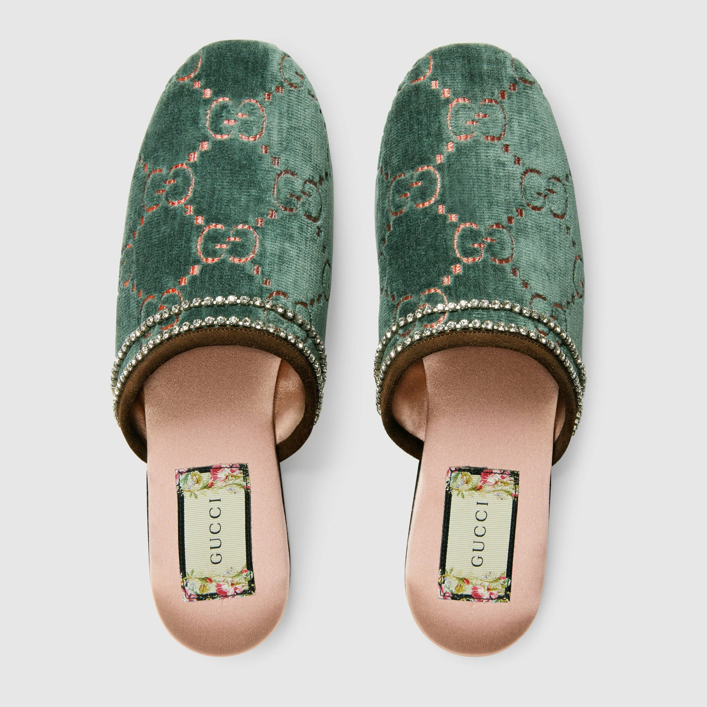 a675230840f GG velvet slipper - Gucci Women s Slippers   Mules 5124239JT704261 ...
