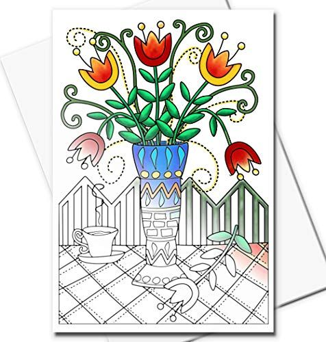 Art Eclect Coloring Greeting Cards for adults and kids to ...