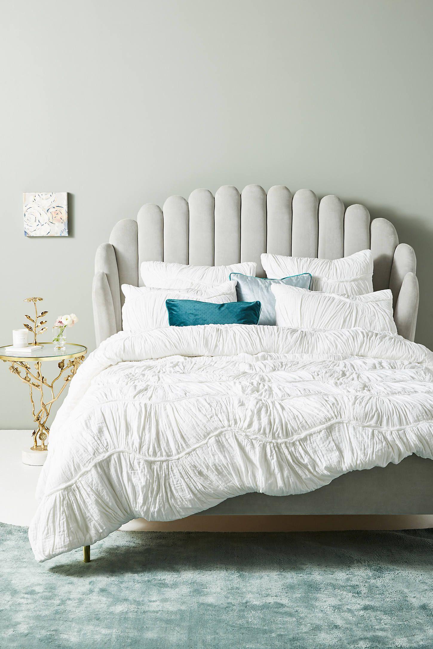 Ruched Wave Quilt In 2020 Furniture Bed Bed Frame
