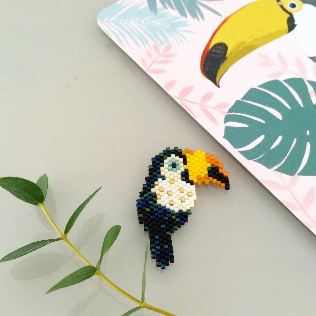 Toucan mon petit bazar beaded birds delicas mostacilla und broches - Perlenarmband basteln ...