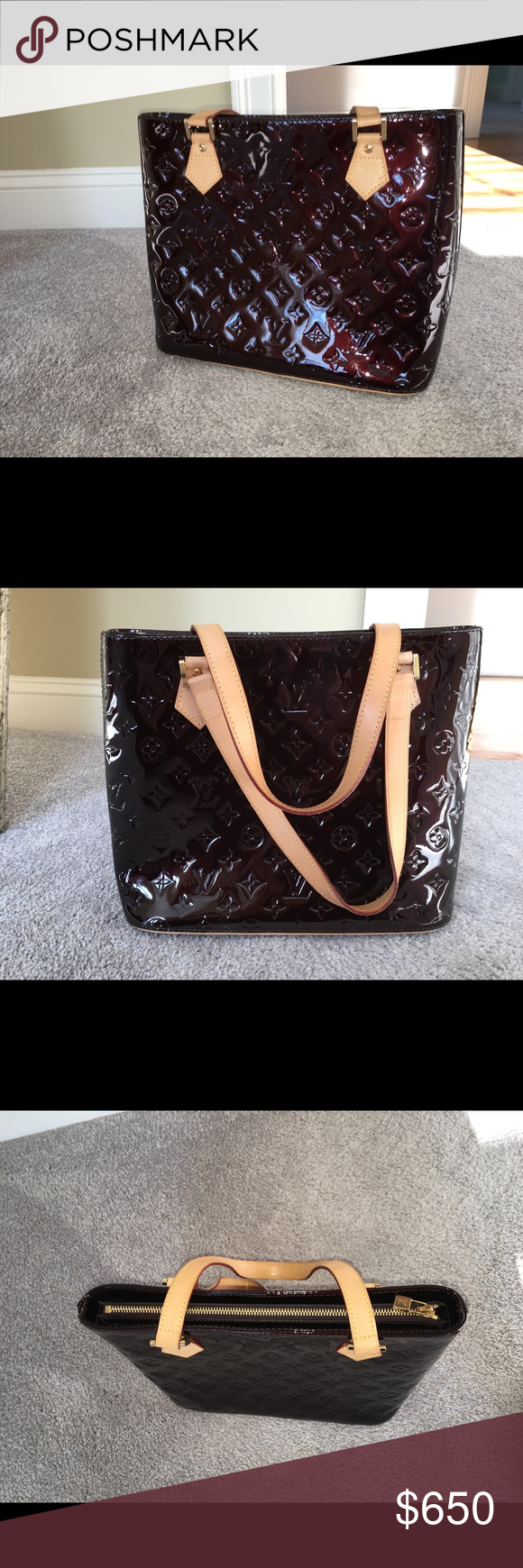 Louis Vuitton Houston Monogram Vernis Absolute Perfect Condition Barely Used Louis Vuitton Bags Totes Monogram Louis Vuitton Louis Vuitton Bag