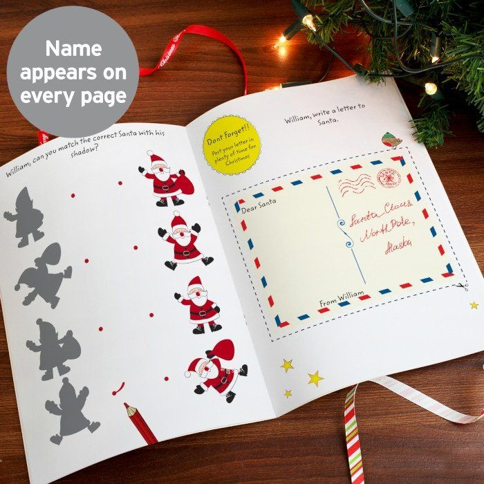 An adorable stocking filler to keep a child happy and entertained this Christmas! Personalise this activity book with a name and a message. The name (12 charact