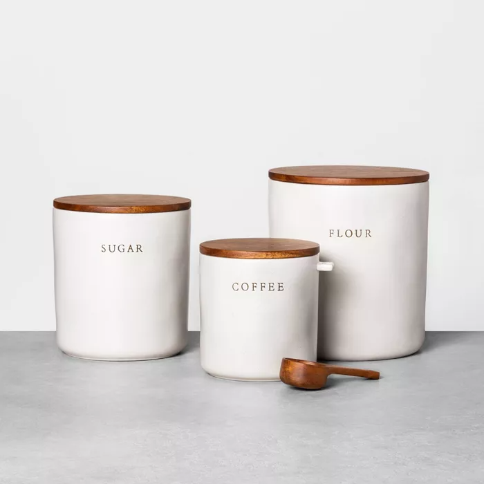 Hearth and Hand with Magnolia Coffee Canister With Scoop Wooden Spoon