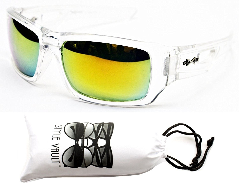 9bc61d85d0cd4 X283-vp Sports Wrap Sunglasses - 7001 Clear-gold Mirror - C611SN86HJB - Women s  Sunglasses