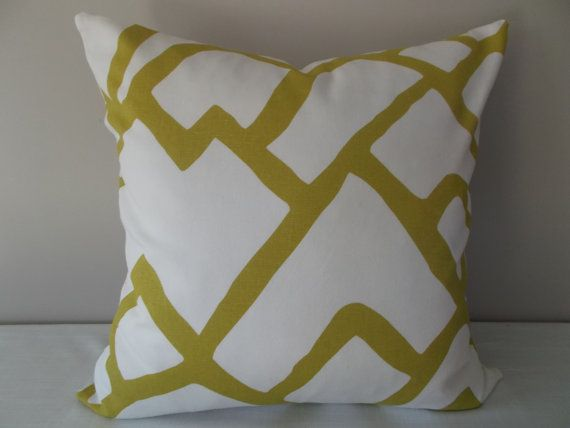 Chartreuse Pillow Covers 12x20 14x20