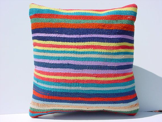 MODERN Bohemian Home DecorTurkish Kilim Pillow by TurkishKilimRug