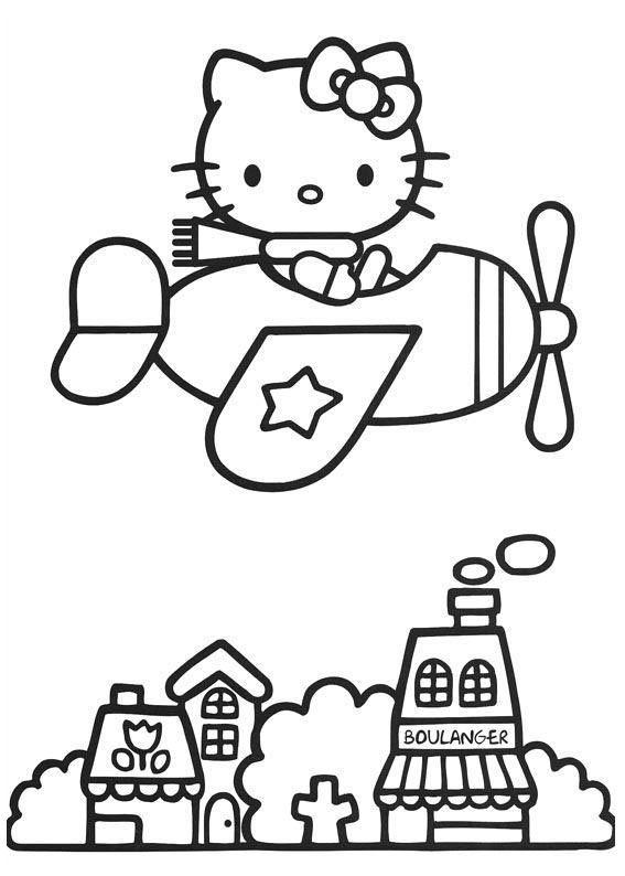 Hello Kitty coloring page   modelli cartoon   Pinterest   Colorear ...