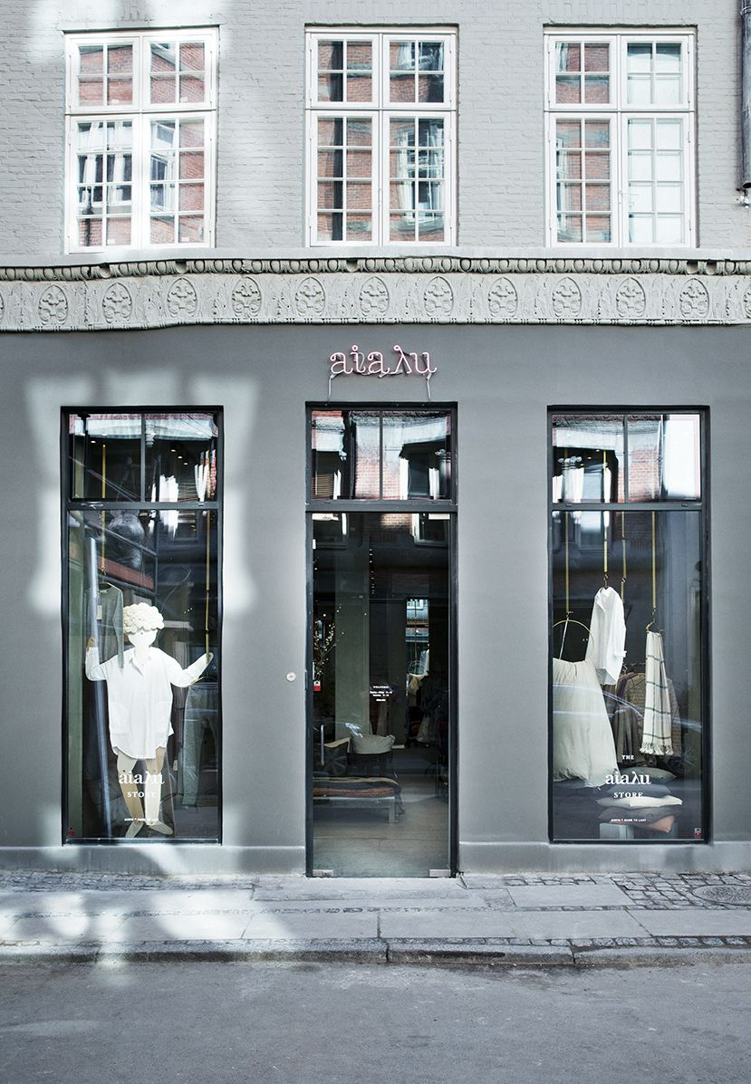 The front of AIAYA Store in Store Strandstræde in the ...