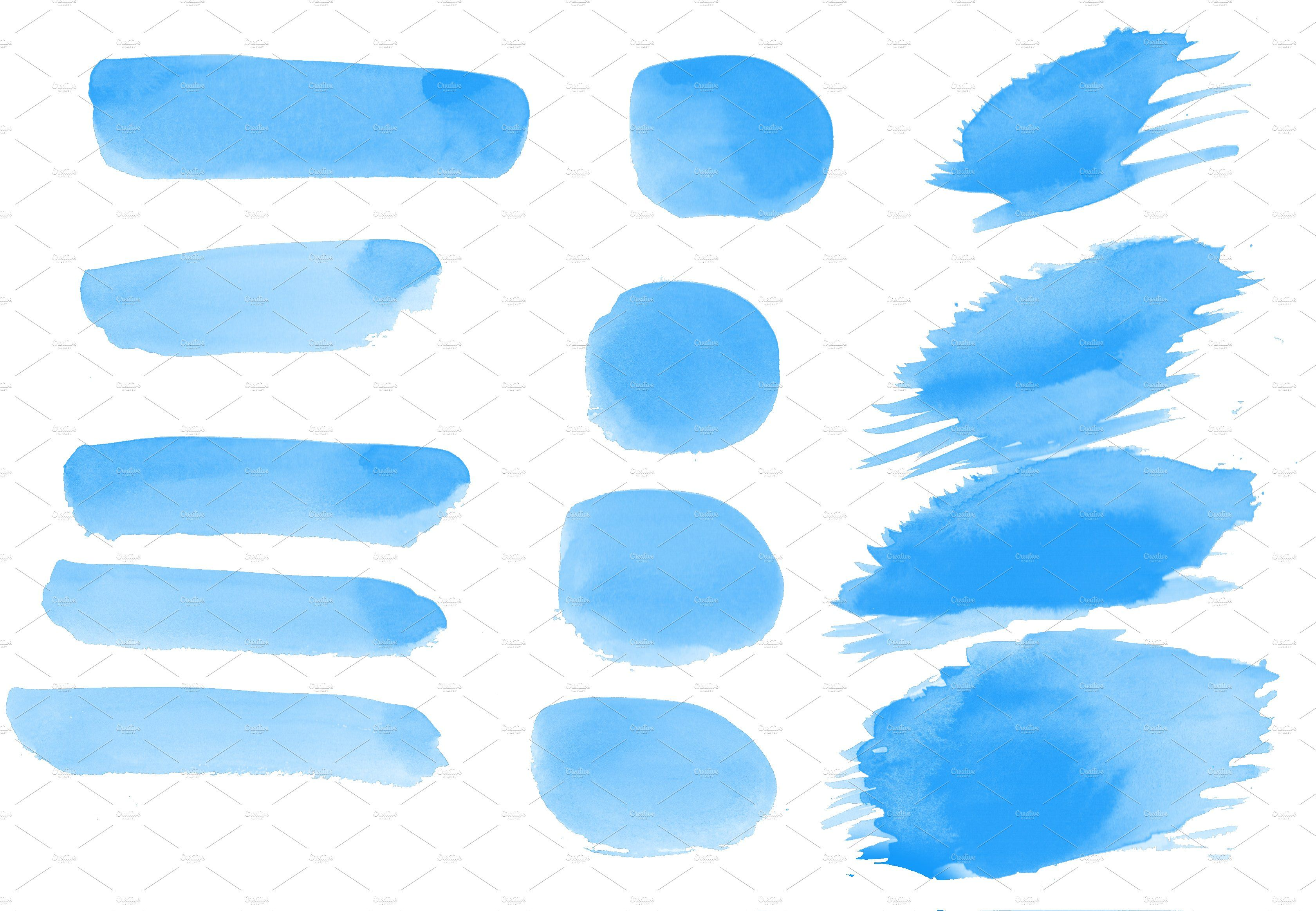235 Water Color Brushes Big Pack Abstract Photoshop Photoshop