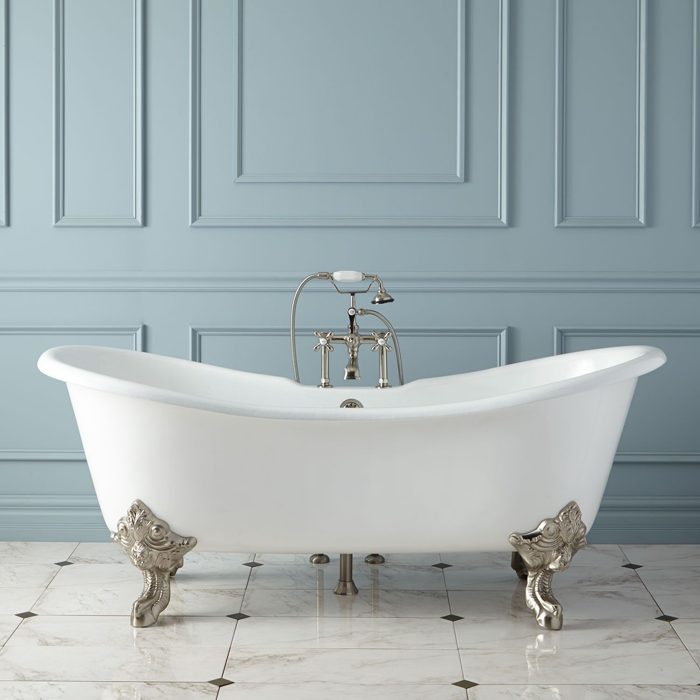 mona slipper tub double w bathtub acrylic freestanding clawfoot