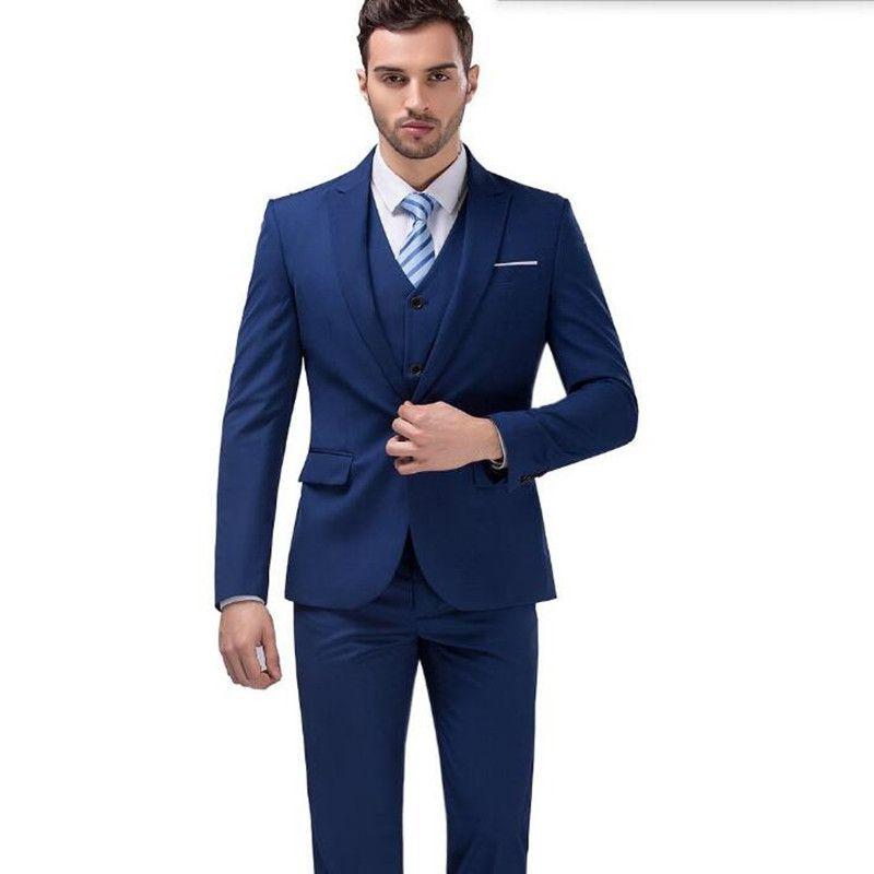 Click to Buy << Haute couture men suits elegant fashion men wedding ...