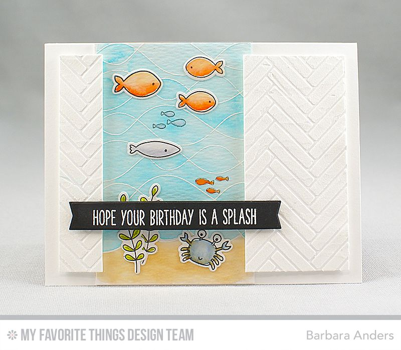 Hope your birthday is a splash cardmaking general pinterest handmade card from barbara anders featuring soak up the fun stamp set and die namics whimsical waves background stamp blueprints 27 die namics malvernweather Image collections