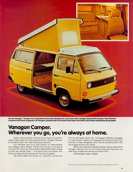 Early Aircooled T3 Camper Vw Ads Volkswagen Vw