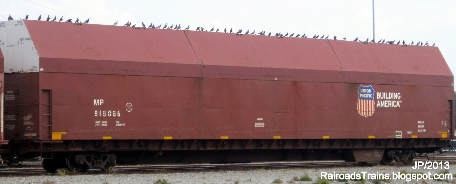 Mp 818086 Covered Aircraft Parts Railcar Missouri Pacific