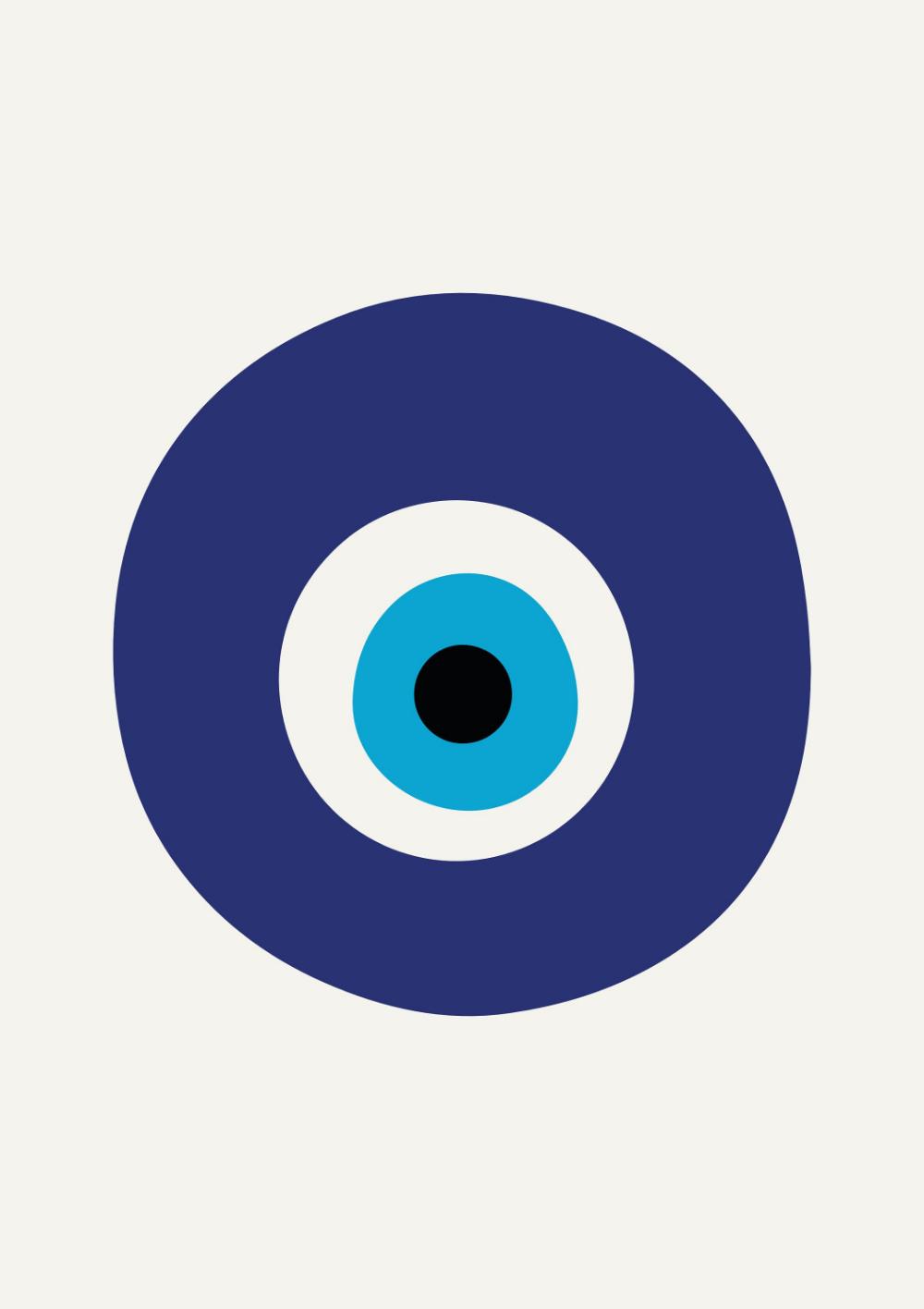 Blue Evil Eye Poster Amulet Print Nazar Talisman Boho Prints Large Poster Decor Geometric Print Home Decoratio Evil Eye Art Eyes Artwork Eyes Wallpaper