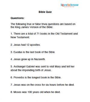 Genial Bible Trivia Quiz Questions