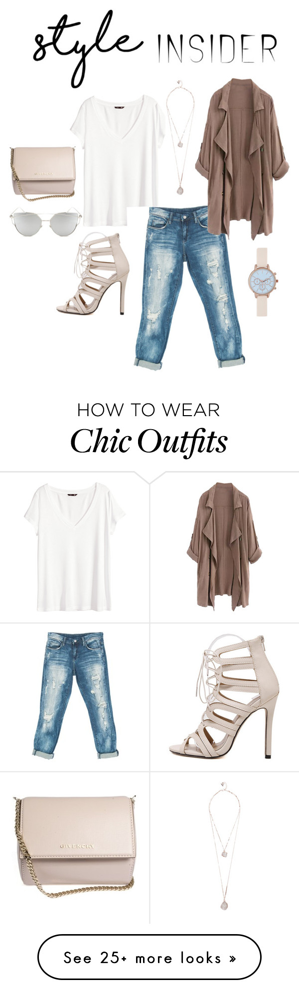 """""""chic chick"""" by kamille-ldr on Polyvore featuring H&M, Sans Souci, Givenchy, Chicnova Fashion, New Look, GUESS, contestentry, laceupsandals and PVStyleInsiderContest"""