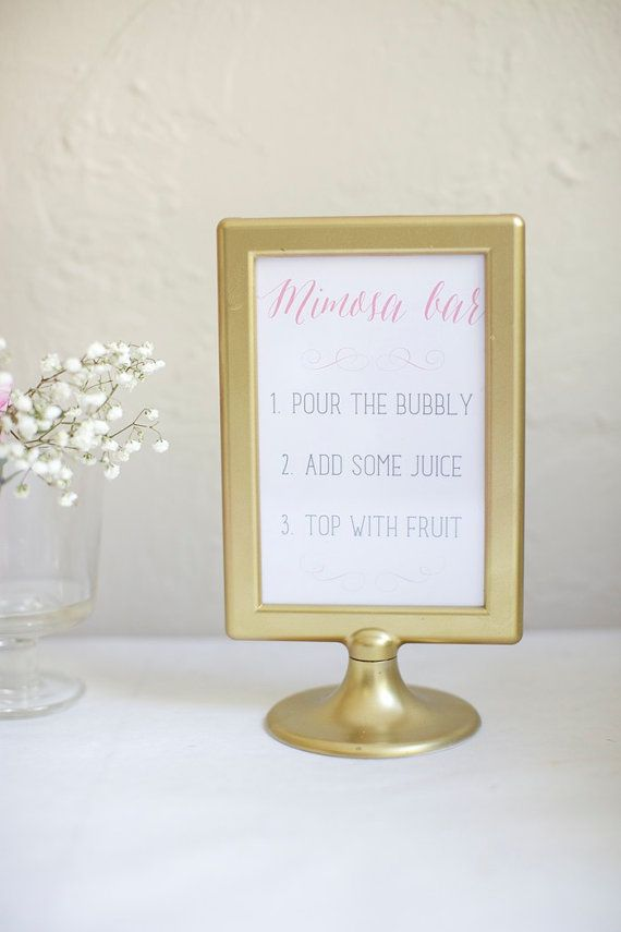Ready To Ship Ikea Plastic Double Sided Gold Frame With Mimosa Bar