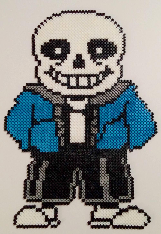 Sans Undertale Perler Beads by kamikazekeeg | pixel art | Pinterest ...