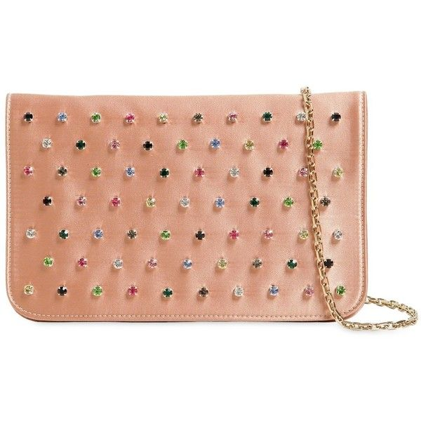 Red Valentino MULTICOLOR CRYSTALS SATIN CLUTCH OSEvlp