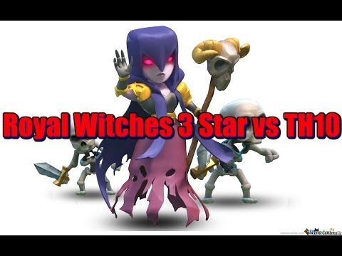 Royal Witchcraft 3 Star Attack vs TH10 - Clash of Clans Strategy