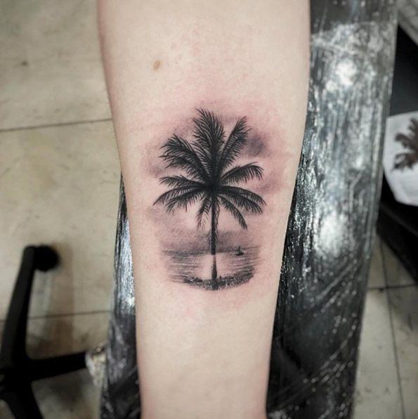 Tattoo Designs Palm Tree: 38 Alluring Palm Tree Tattoo Designs
