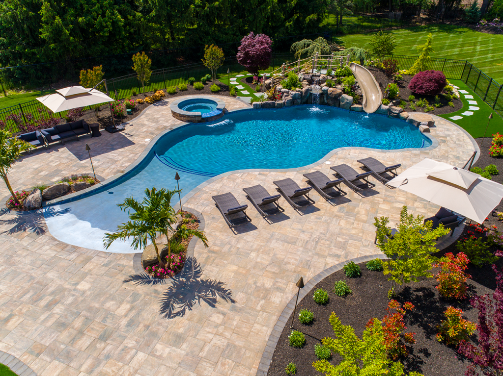 Paver And Wall Design Ideas Pools Backyard Inground Dream Backyard Pool Backyard Pool Landscaping