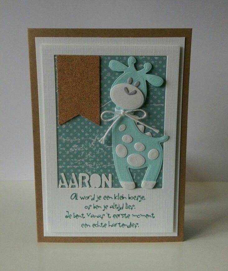 Baby boy giraf card