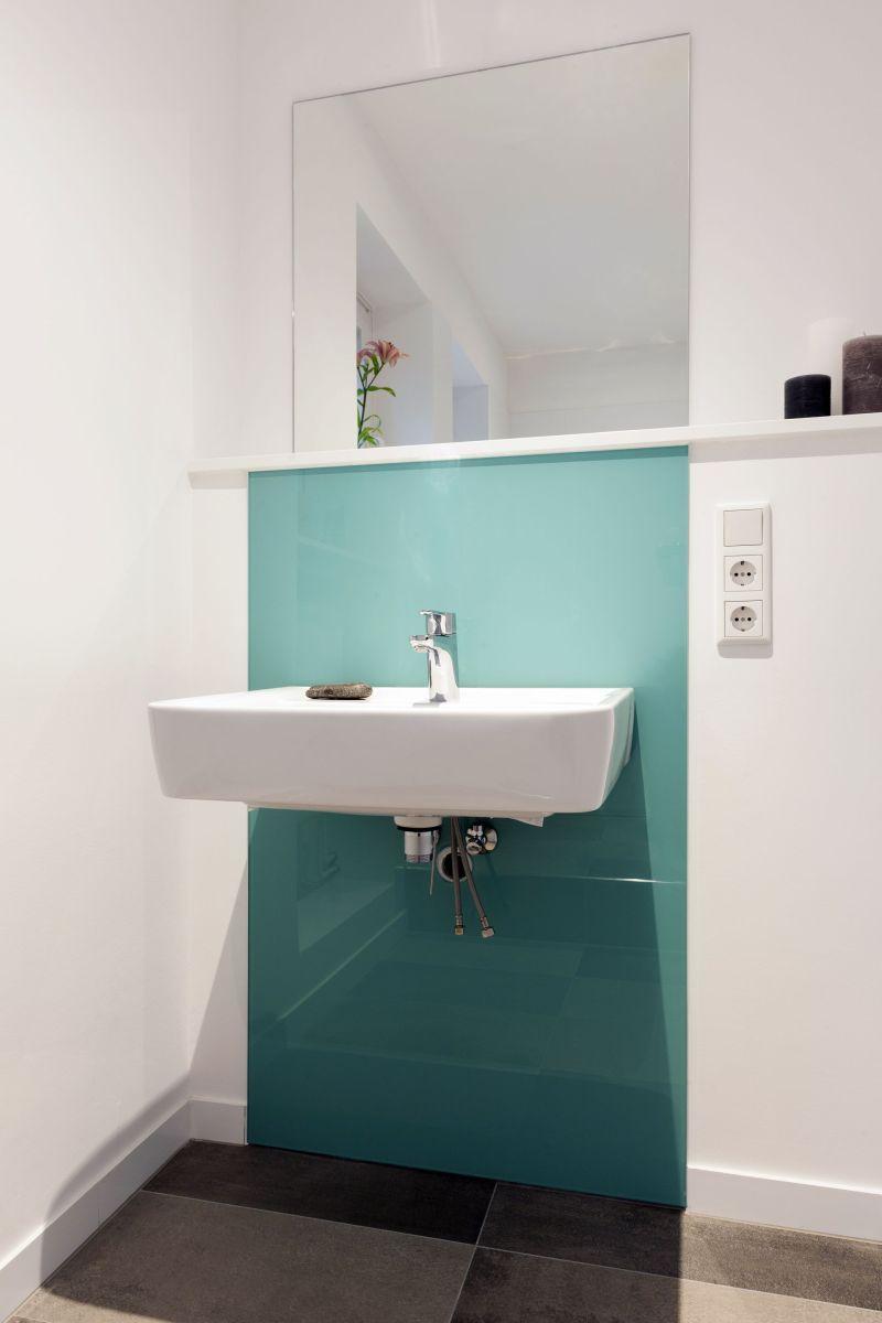Glasplatte türkis lackiert   Badezimmer, Badezimmer türkis ...