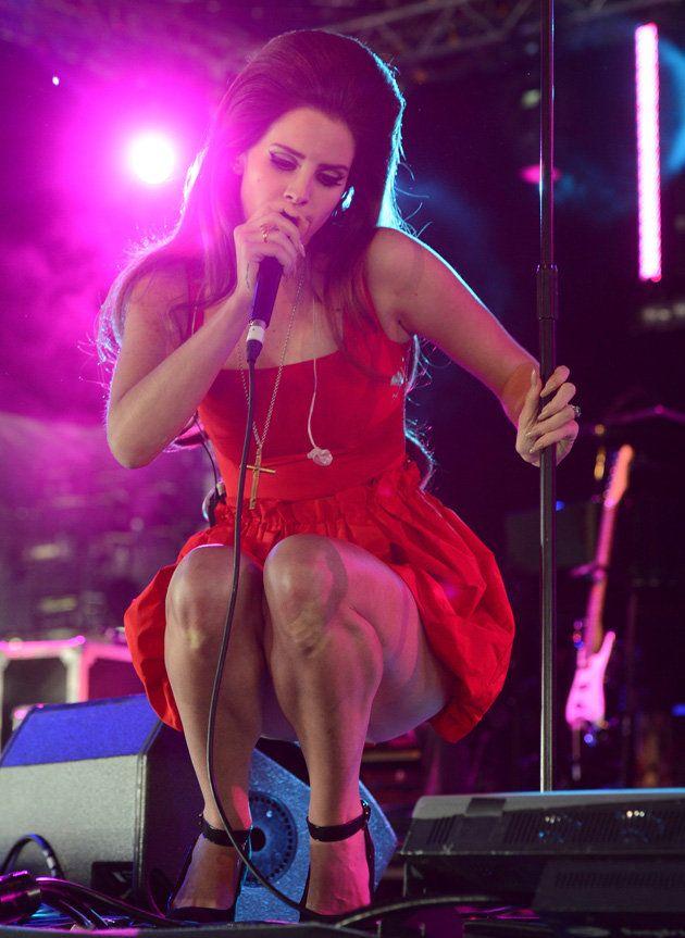 Lana Del Rey in red