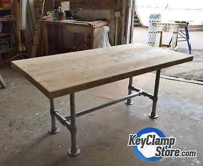 Key Clamp Reclaimed Scaffold Industrial Pipe Table Desk Kit