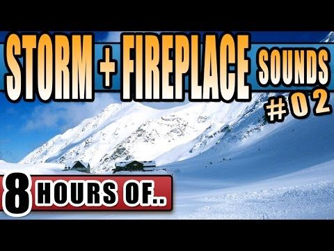 SNOW STORM SOUNDS and FIREPLACE SOUND EFFECT, Blizzard