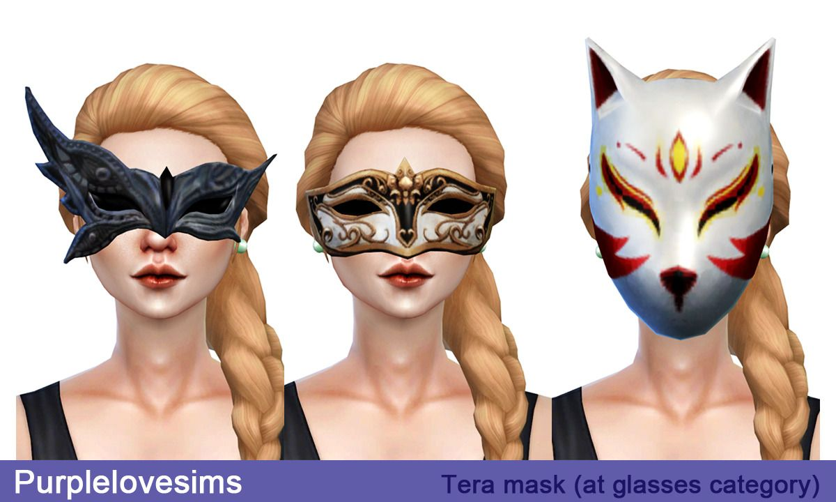 PurpleLove-sims | TERA Mask (S4CC) 3 type / at glasses