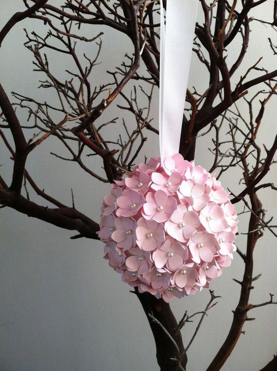 Medium Paper Flower Pomander Ball By Simplypearlee On Etsy
