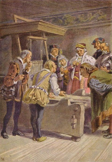 Maler Hameln rumpelstilzchen illustration zu grimms märchen professor