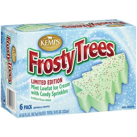Kemps Frosty Trees Ice Cream Slices 3 Fl Oz 6 Count