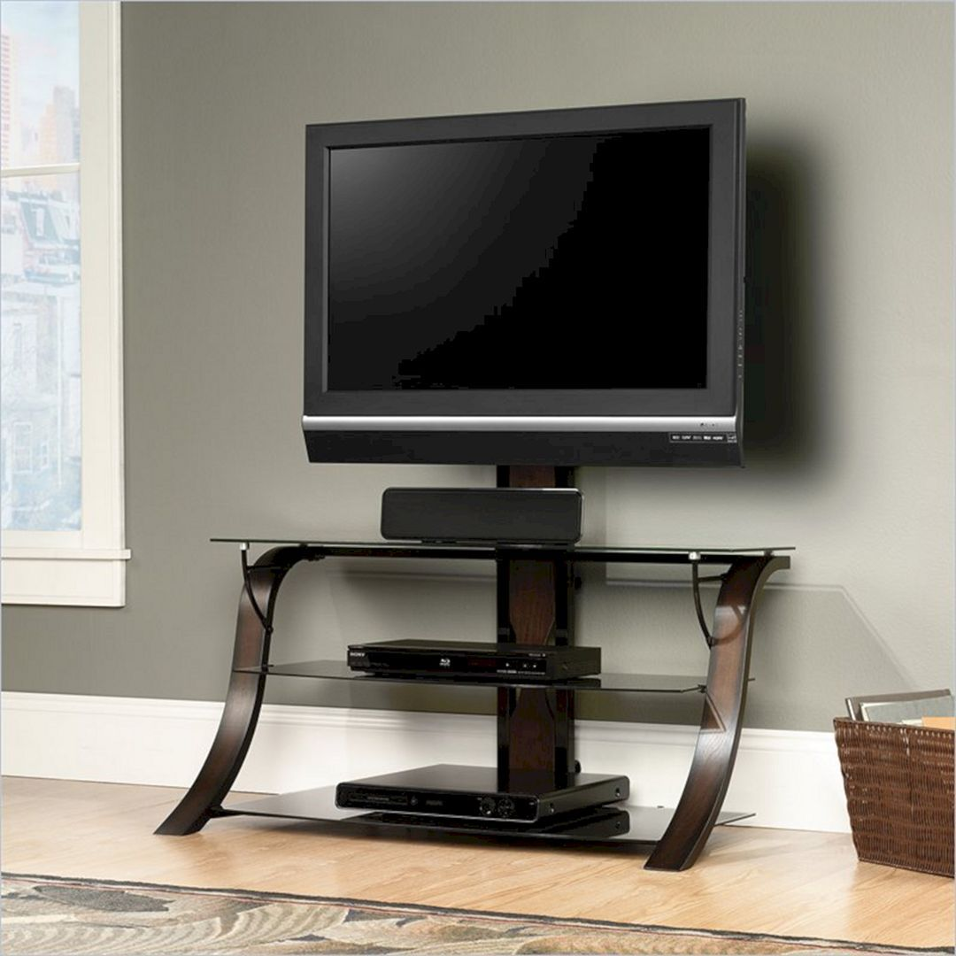 10 Awesome Artistic Wood Tv Table Designs For Your Living Room Freshouz Com Tv Stand With Mount Flat Screen Tv Stand Cool Tv Stands