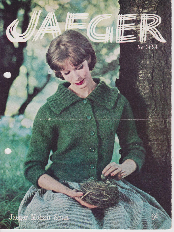 Vintage Jaeger knitting pattern ladies cardigan by MaryWildDesigns ...